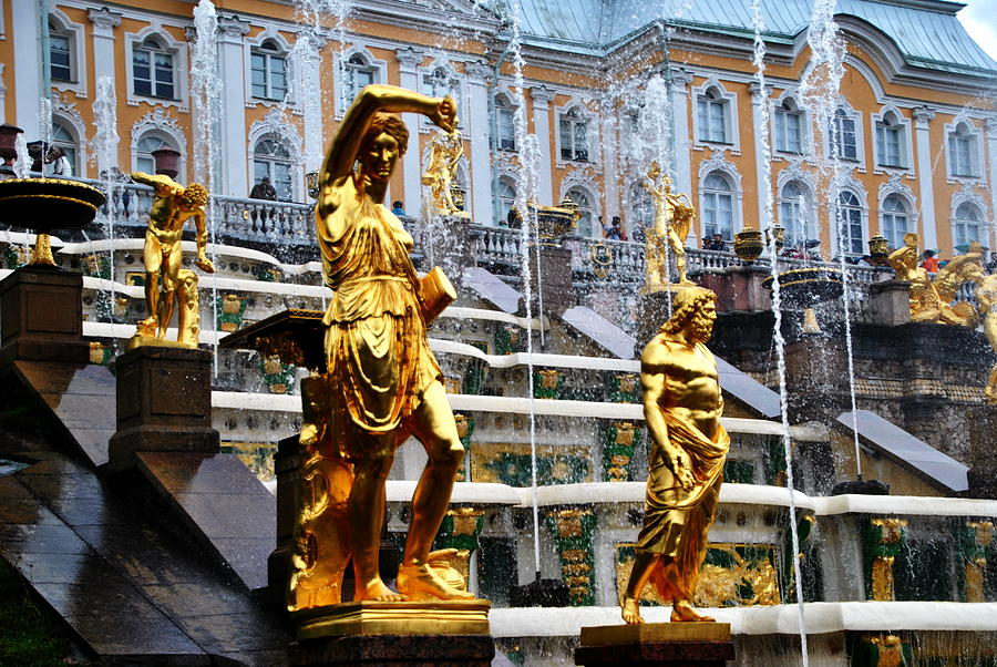Peterhof Fountain Detail by Jacqueline M Lewis