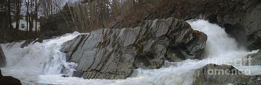 Nature Photograph - Petersburgh Falls by Alan Del Vecchio