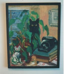 Cats Painting - Peti And Friends by Cathey Bayless