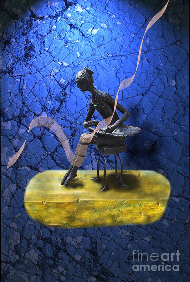 Bleu Digital Art - Petite Danseuse De Fer by Degouges Cindy