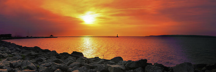 Petoskey Photograph - Petoskey Sunset by Lee Wolf Winter