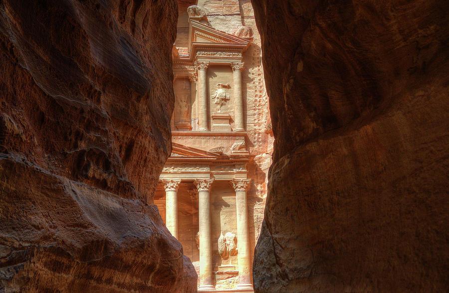 Petra Photograph - Petra Treasury Revealed by Nigel Fletcher-Jones