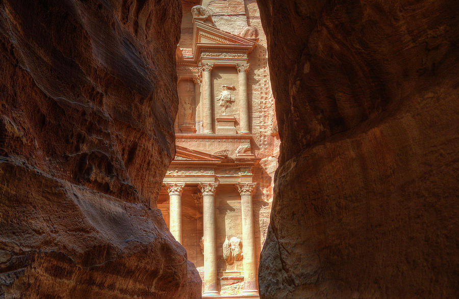 Petra Photograph - Petra Treasury Revealed by Nigel Fletcher-Jones