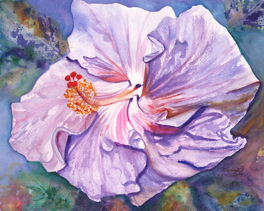 Hibiscus Painting - Petrinas Hibiscus by Marionette Taboniar