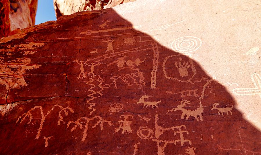 Valley Of Fire State Park Photograph - Petroglyphs by Sagittarius Viking