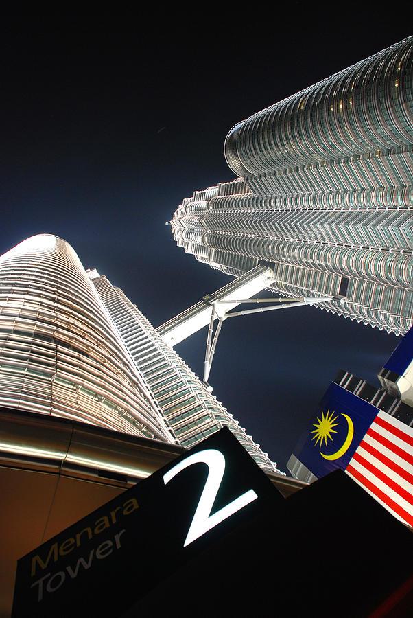 Night Photography Photograph - Petronas Twin Towers by Eva Glykou