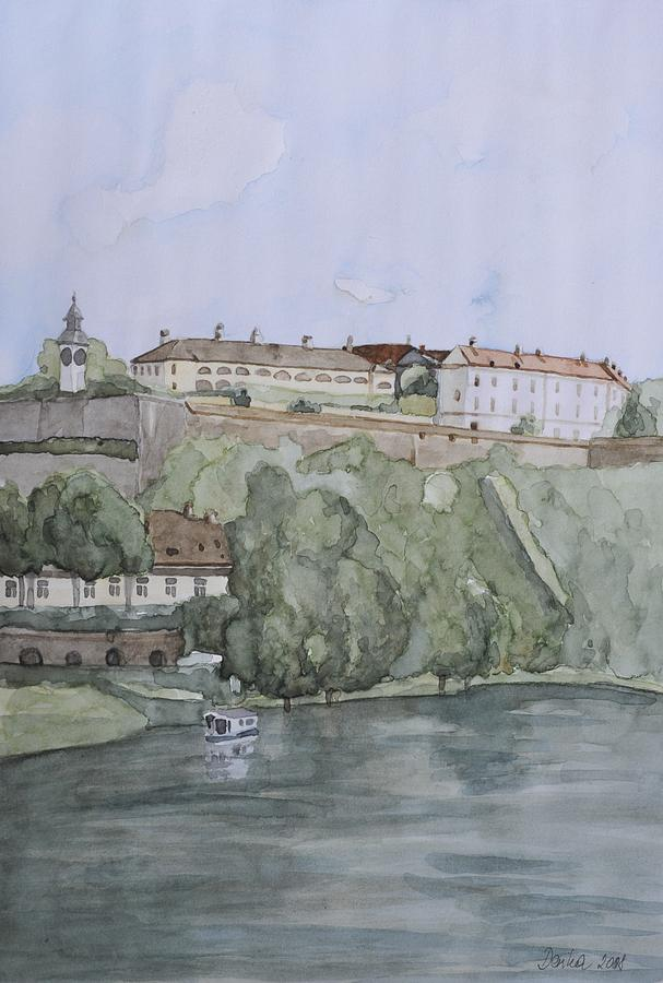 Landscape Painting - Petrovaradin Fortress by Desimir Rodic