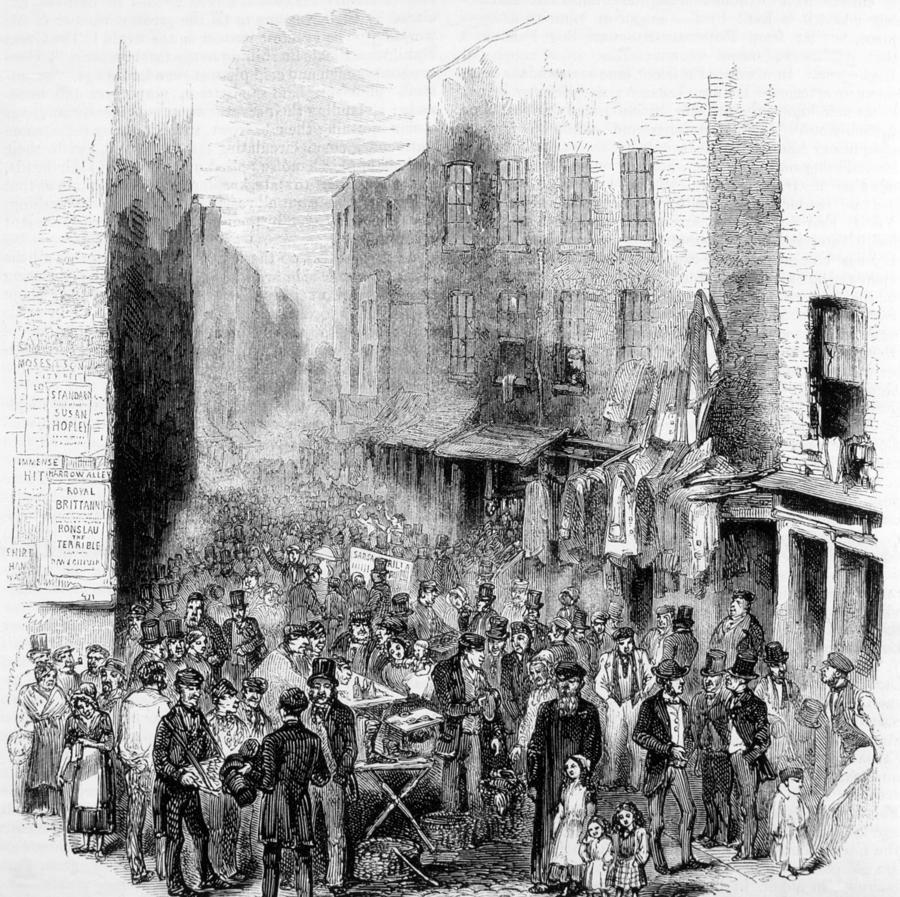 1880s Photograph - Petticoat Lane, London, On A Sunday by Everett
