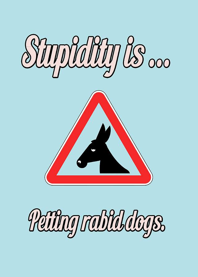 Funny Digital Art - Petting Bigstock Donkey 171252860 by Mitchell Watrous