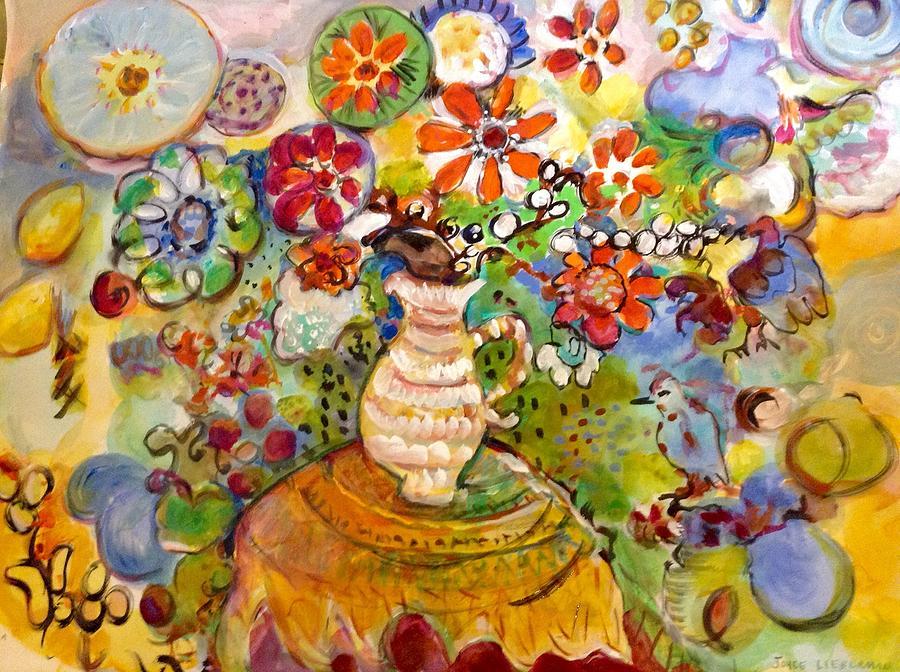 Flowers Painting - Petunia by Joyce Lieberman