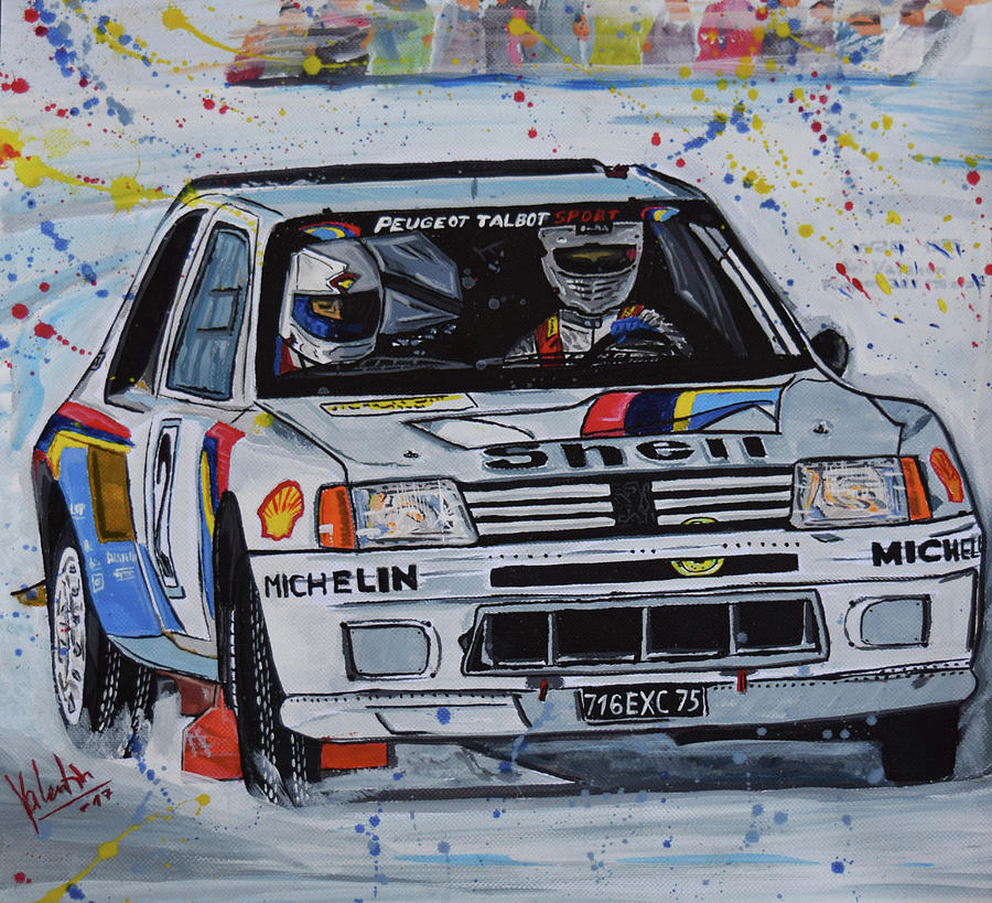 peugeot 205 t16 evo 2 group b painting by valentin domovic. Black Bedroom Furniture Sets. Home Design Ideas