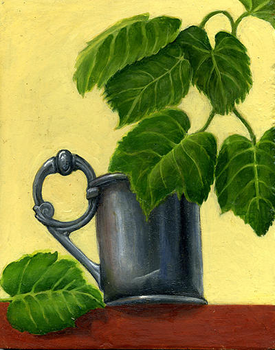 Old Master Painting - Pewter Cup by Kristine Mobley