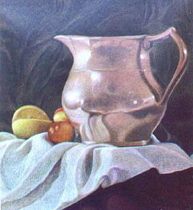 Still Life Painting - Pewter Pitcher by Bonnie Haversat
