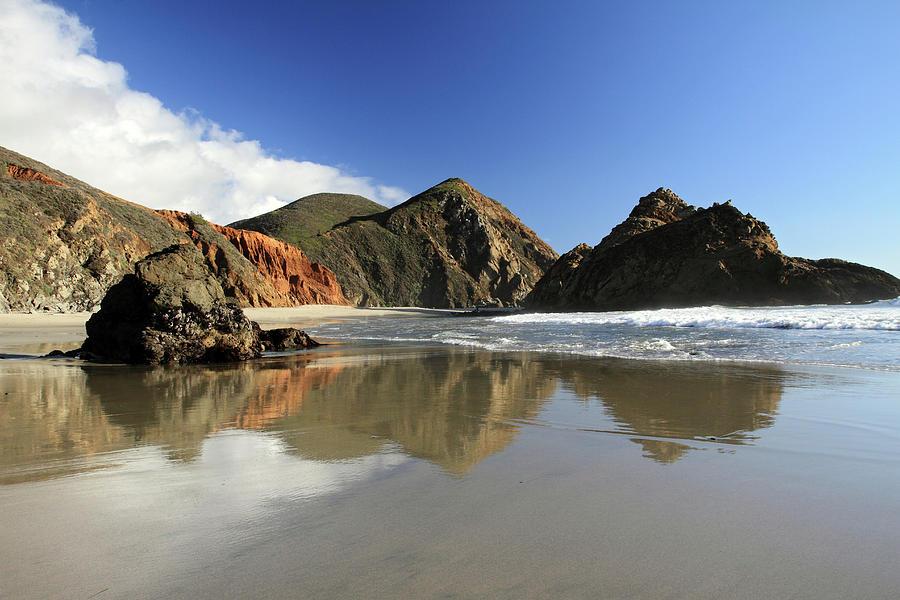 Pfeiffer Photograph - Pfeiffer Beach Reflection by Pierre Leclerc Photography