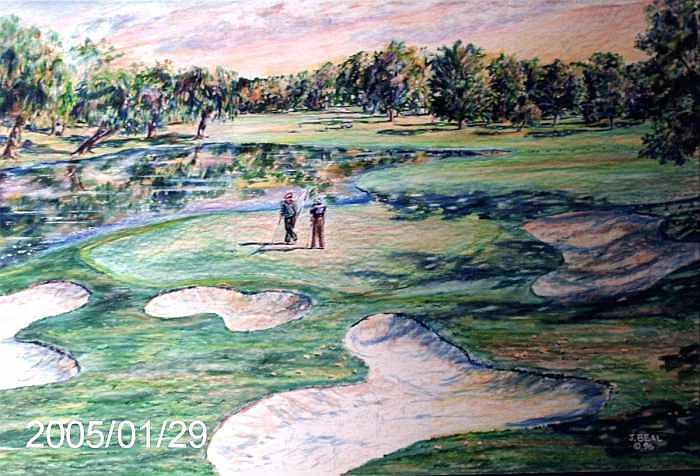 Sports Drawing - PGA Michigan by James Beal