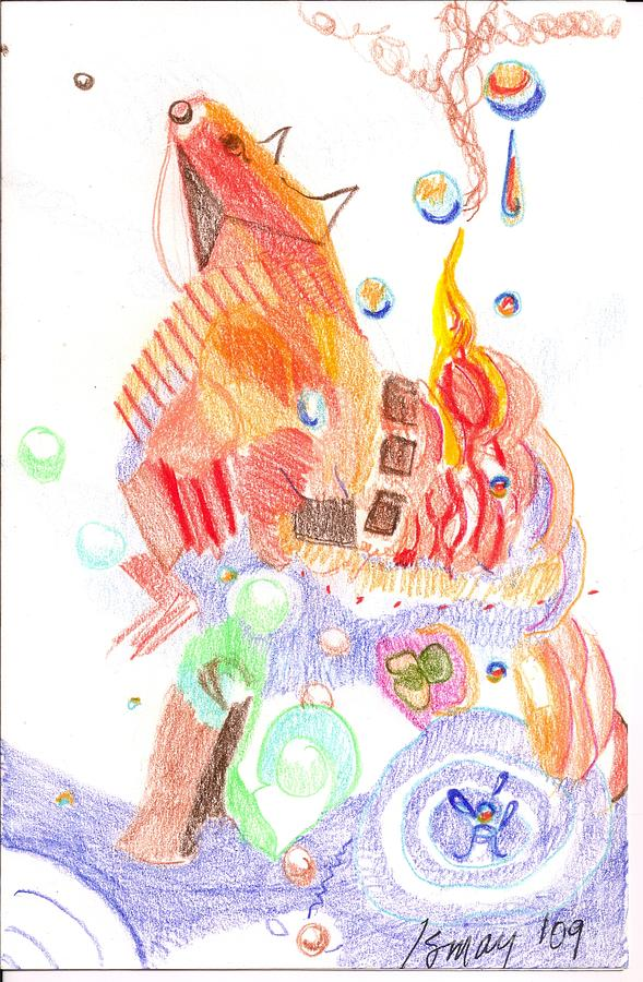 Phantasy On Trojan Horse Drawing by Rod Ismay