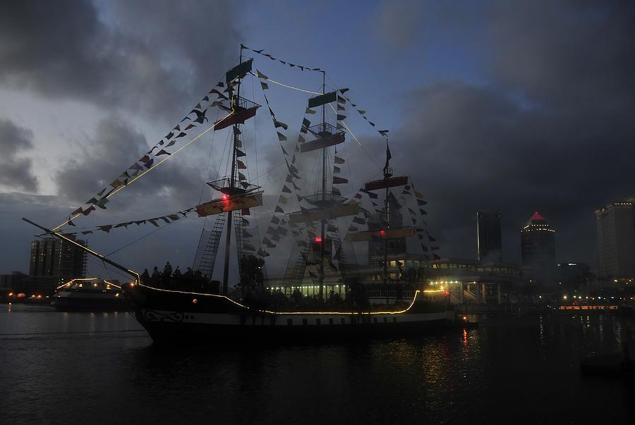 Pirate Festival Photograph - Phantom Ship by David Lee Thompson