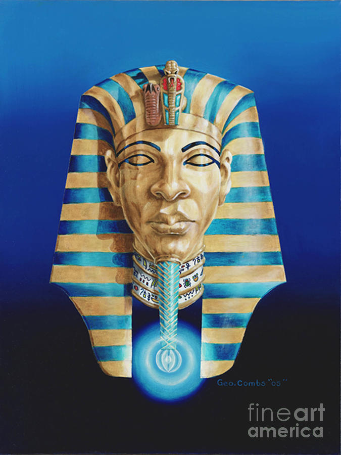 Hieroglyphics Painting - Pharaoh by George Combs