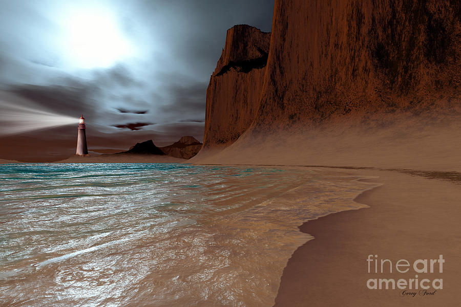 Lighthouse Painting - Pharos by Corey Ford