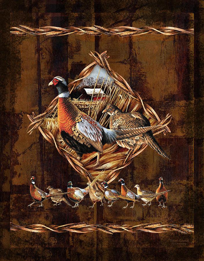 Wildlife Painting - Pheasant Lodge by JQ Licensing