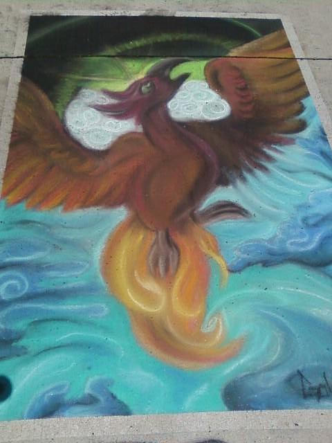 Pheonix Pastel - Pheonix Of The Sky by Kyeesha Davis