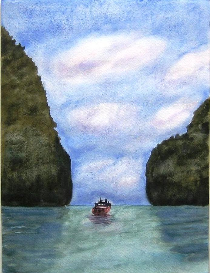Landscape Painting - Phi Phi Islands by Monika Deo