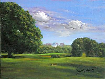 Philadelphia Painting - Phialdelphia Skyline Two by Jeanie Chadwick