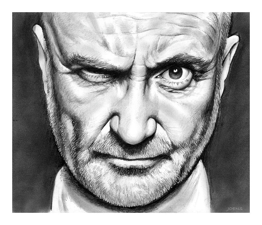 Phil Collins Drawing - Phil Collins by Greg Joens