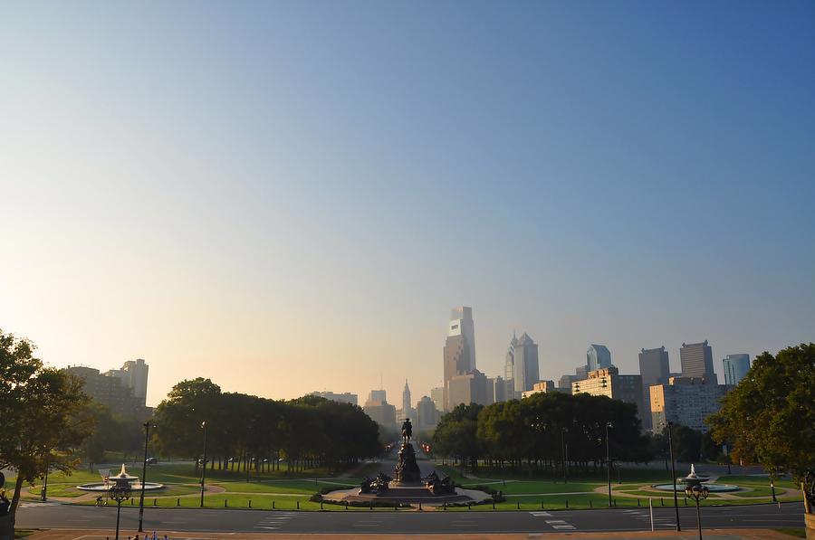 Philadelphia Photograph - Philadelphia Across Eakins Oval by Bill Cannon