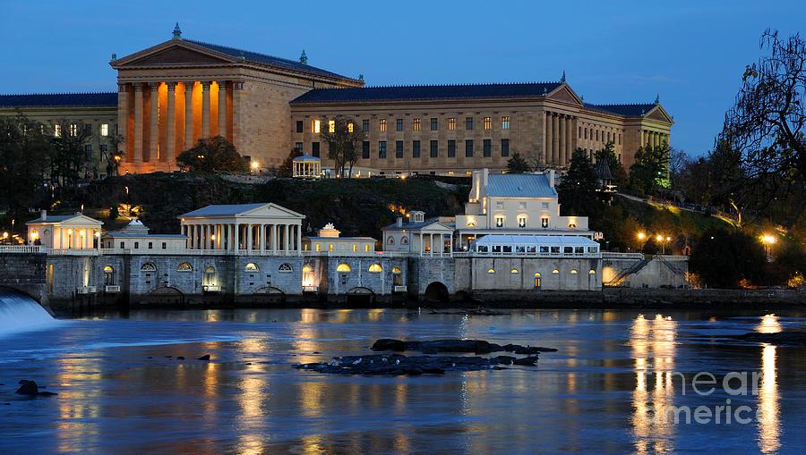 Philadelphia Photograph - Philadelphia Art Museum And Fairmount Water Works by Gary Whitton