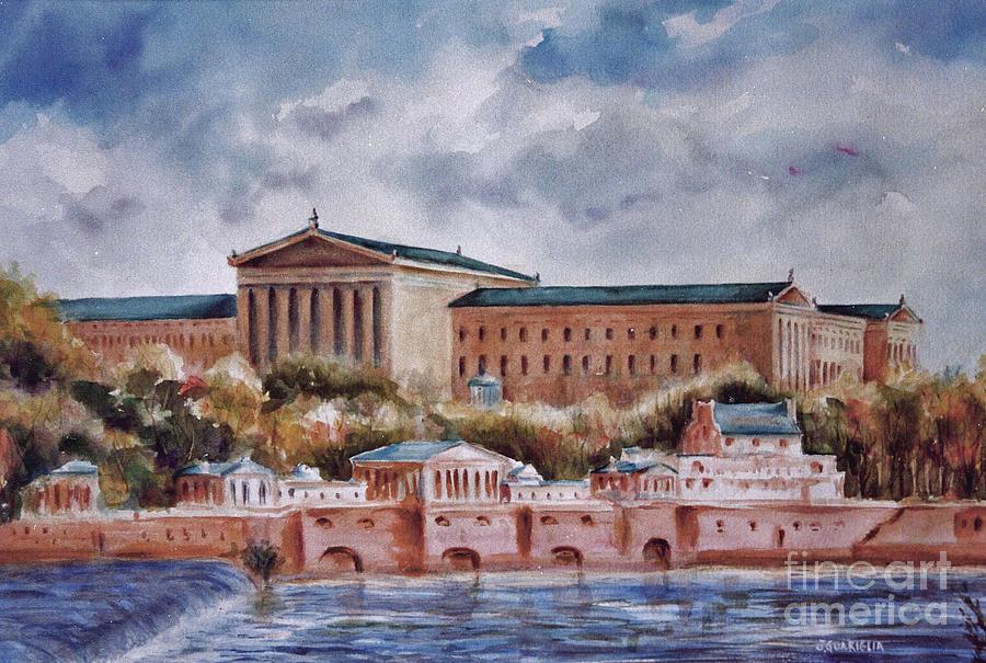 Landscape Painting - Philadelphia Art Museum by Joyce A Guariglia