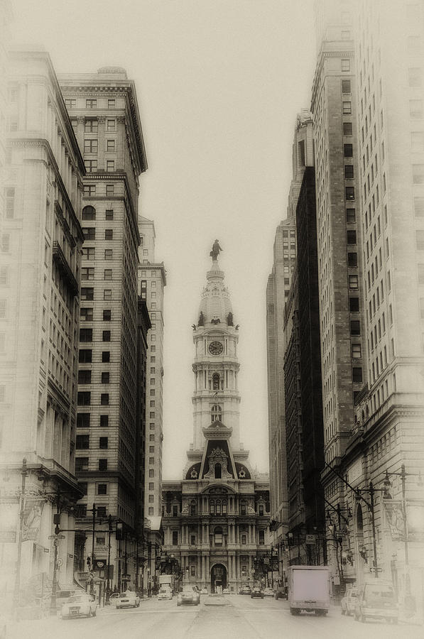 Philadelphia Photograph - Philadelphia City Hall From South Broad Street by Bill Cannon