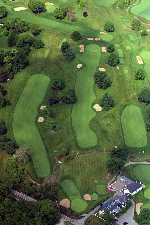 Philadelphia Cricket Club Photograph - Philadelphia Cricket Club Wissahickon Golf Course 1st Hole by Duncan Pearson