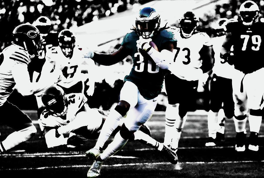 Chris Long Mixed Media - Philadelphia Eagles 5b by Brian Reaves