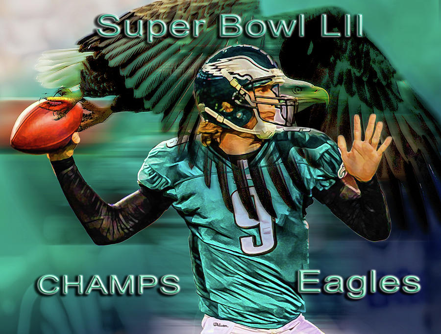 Philadelphia Eagles - Super Bowl Champs by Glenn Feron