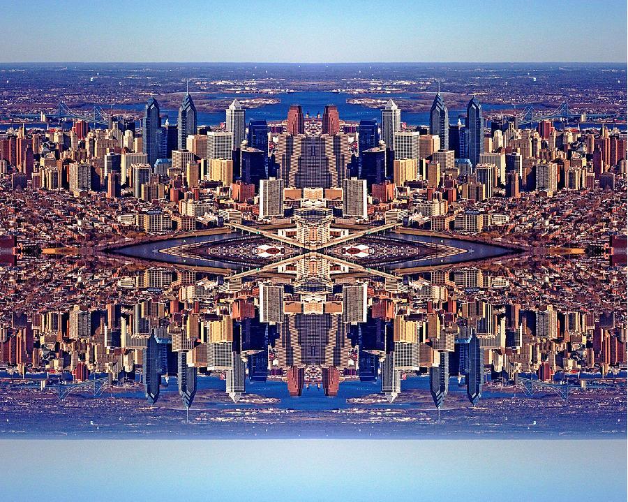 Philadelphia Photograph - Philadelphia Geometric Collage by Duncan Pearson