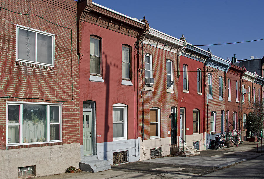 Philadelphia Photograph - Philadelphia Row Houses by Brendan Reals