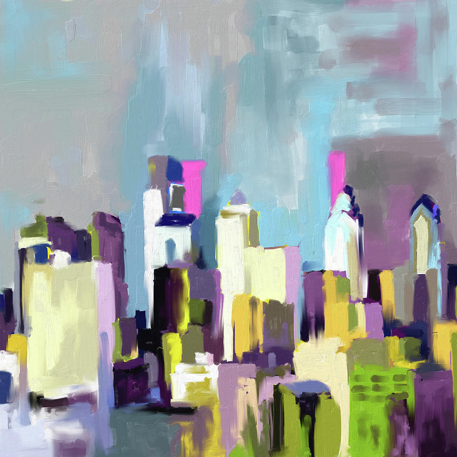 United States Painting - Philadelphia Skyline 650 1 by Mawra Tahreem