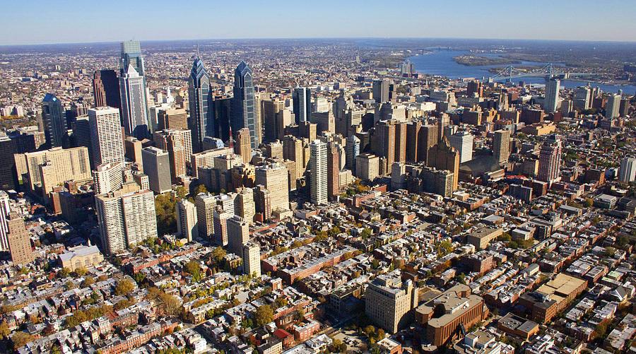 Philadelphia Photograph - Philadelphia Skyline Aerial Graduate Hospital Rittenhouse Square Cityscape by Duncan Pearson