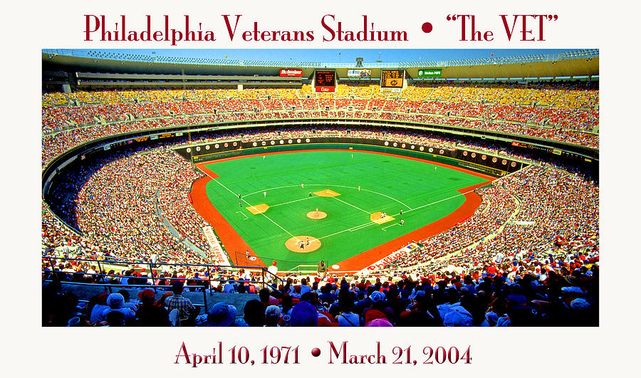 Philadelphia Photograph - Philadelphia Veterans Stadium The Vet by A Gurmankin