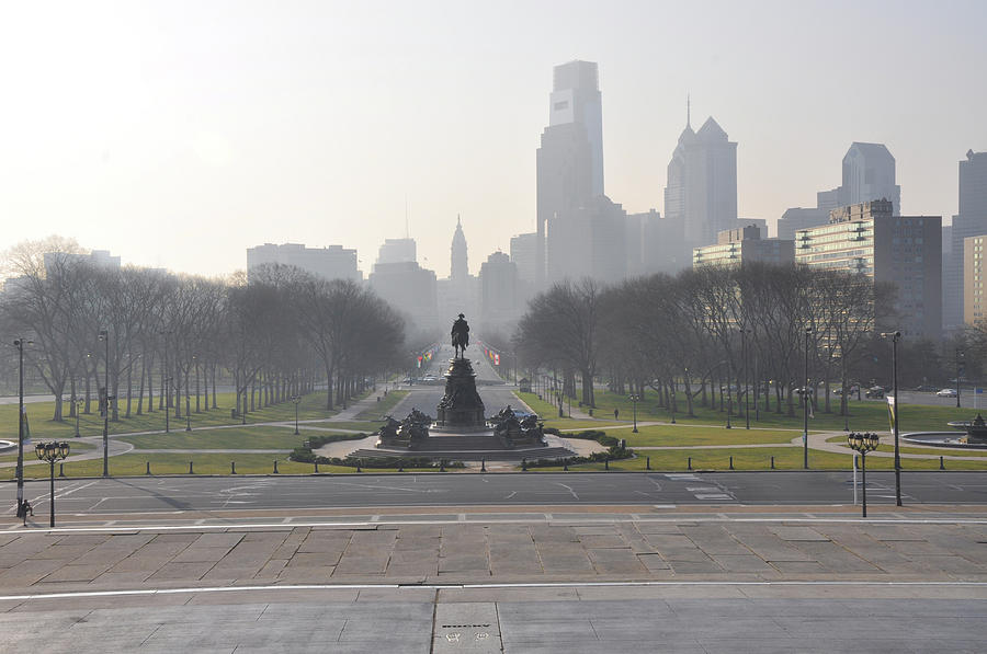 Philadelphia Photograph - Philadelphia - View From The Art Museum by Bill Cannon