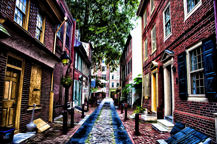 Philadelphia Photograph - Philadelphias Elfreths Alley by Bill Cannon
