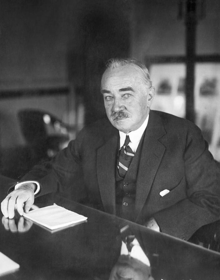 1920s Photograph - Philanthropist Milton Hershey by Underwood Archives