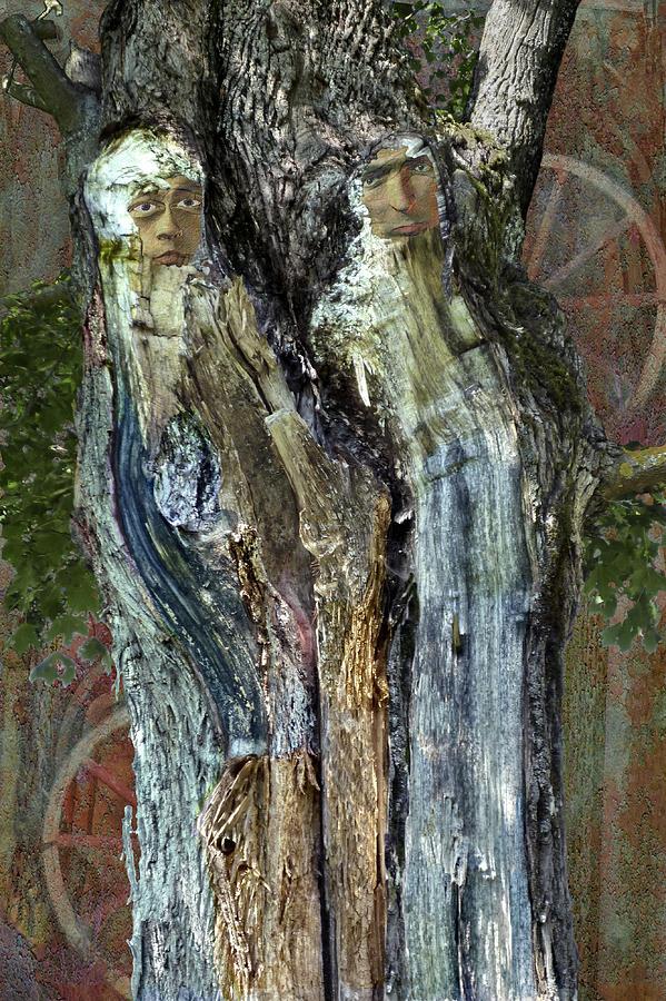 Surrealism Digital Art - Philemon And Baucis by Helga Schmitt