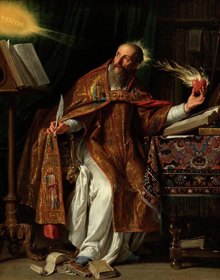 Saint Augustine Of Hippo Painting - Philippe De Champaigne by Saint Augustine