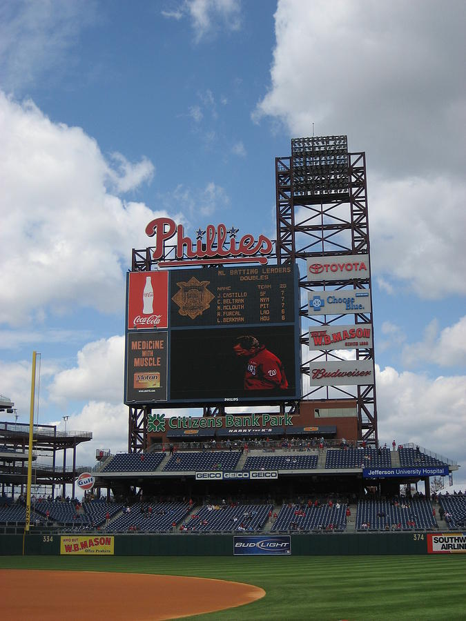 Citizens Bank Park Photograph - Phillies by Jennifer  Sweet