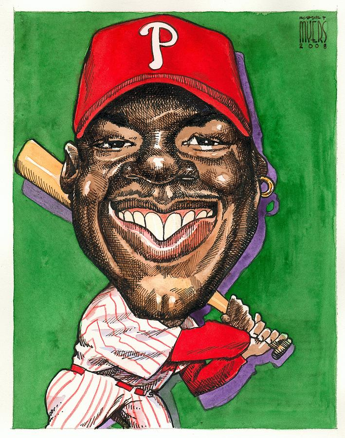 Phillies Painting - Phillies by Robert Myers