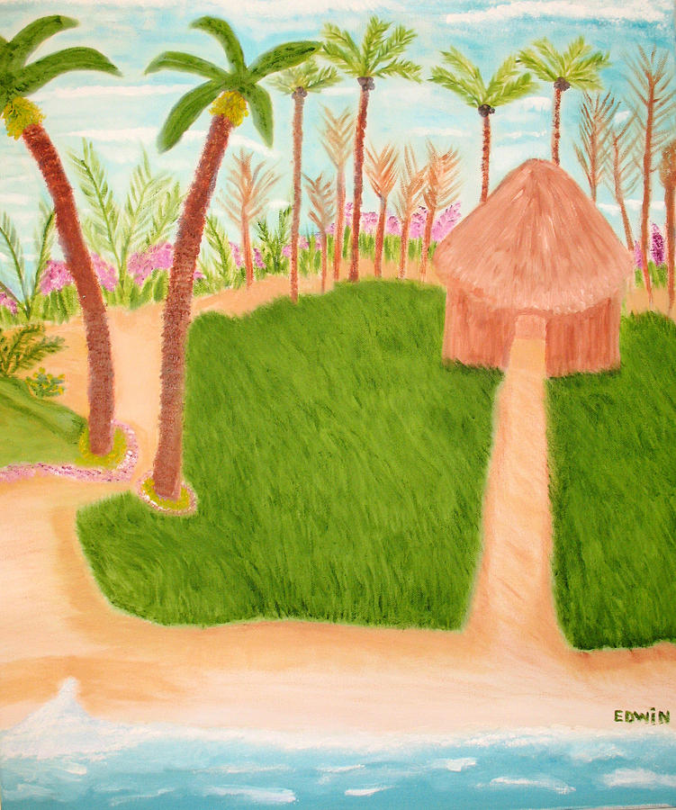 Vacation Painting - Phillipine Vacation by Edwin Long