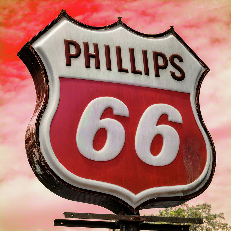 Plains Photograph - Phillips 66 - 3 by Stephen Stookey