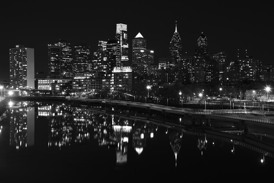 Philly and the Schuylkill bw by Jennifer Ancker
